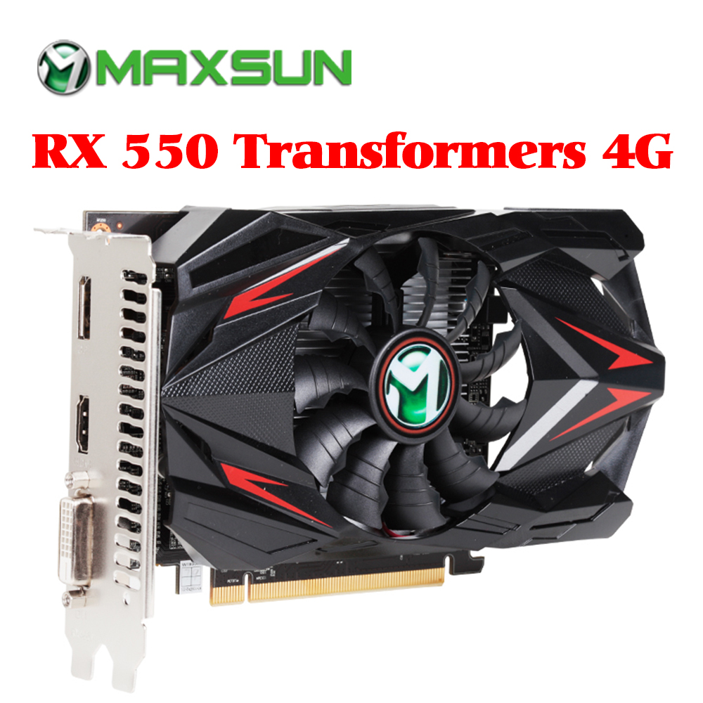 1Pcs NEW IN BOX Graphics card//video card 4G RX550 4Gb DDR5