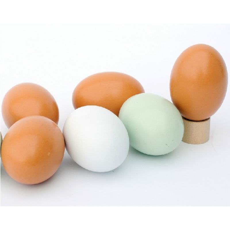 1Pcs Kids DIY Play Joke Fake Egg Toys Emulation Wooden Eggs Pretend Play Kitchen Food Eggs Painted Doodle Eggs Toys For Children