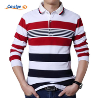 5f3626a26a ... Camisa plus size s 7XL. Covrlge Male Polo Shirt Brand Fashion Men S  Striped Tee Shirt Casual Long Sleeve Men Blouse