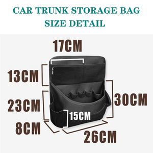 Image 3 - New car organizer Car trunk storage bag net bag thickening storage box car seat organizer waterproof material free shipping
