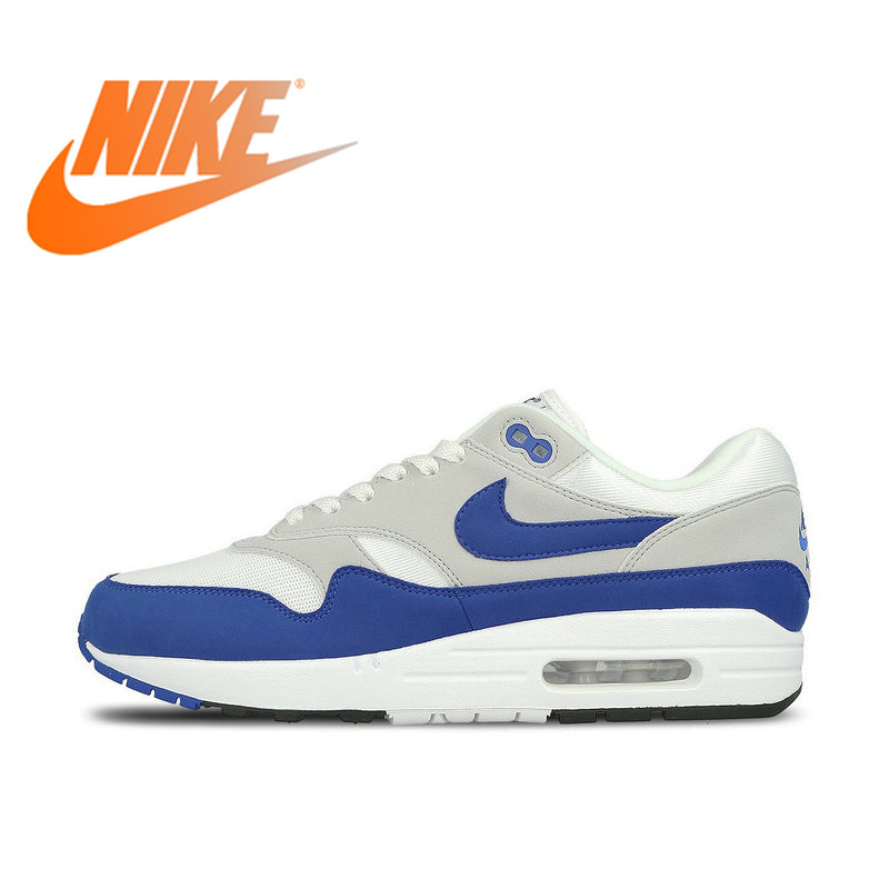 Original Authentic Nike AIR MAX 1 Men's Running Shoes Comfortable Outdoor Sports Shoes Wear Fashion Comfortable 908375-104