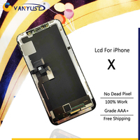 100% Tested LCD Touch Screen Digitizer Assembly With frame for iPhone x lcd White & Black Display Replacement Free gift