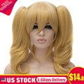 Black Butler Elizabeth Midford Cosplay Party Anime Gold Blond Women Full Wigs Perruque Synthetic Lace Front Wig