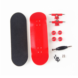 New Creative Finger Skateboard 8 Color Skate Child Finger Toys Professional Type Bearing Wheels Skid Pad Maple Wood Skate