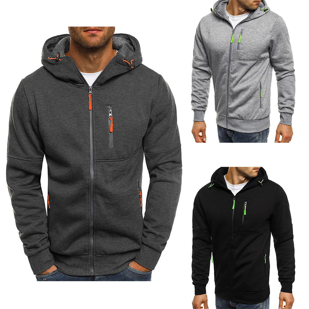 Hoodies Casual Sports Design Spring and Autumn Winter Long-sleeved Cardigan Hooded Men's Hoodie 13