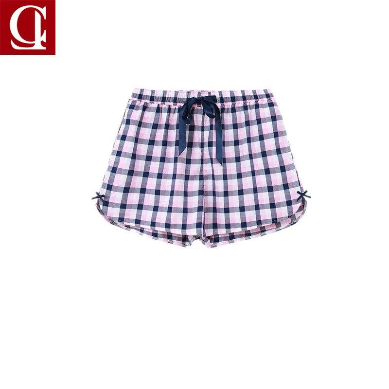 Frauen Kurze 100% Baumwolle Gewebt Shorts Hot Pants Flache Winkel Männer Frauen Paar Lounge Hosen Schlafhosen Unterwäsche & Schlafanzug