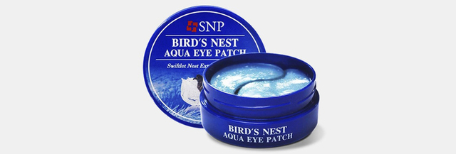 Bird's Nest Aqua Eye Patches