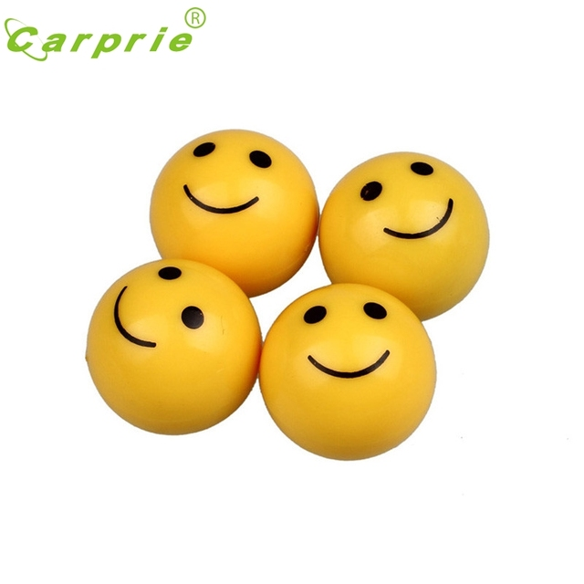 Car-styling Valve caps 4pcs Smile Face Tyre Tire Wheel Stem Air Valve Cap Car Truck Motocycle 2jan12 dropship