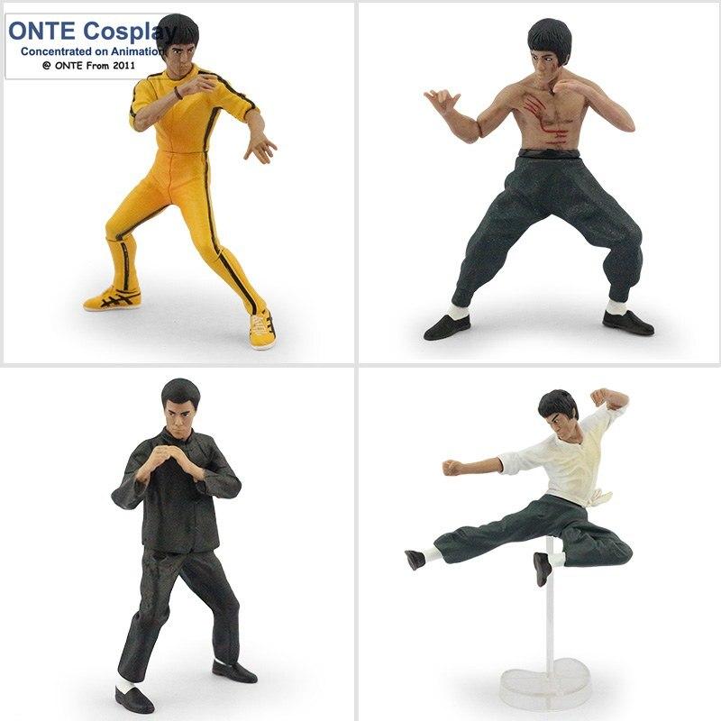 4PCS Bandai Bruce Lee Kung Fu Master Legend Figures