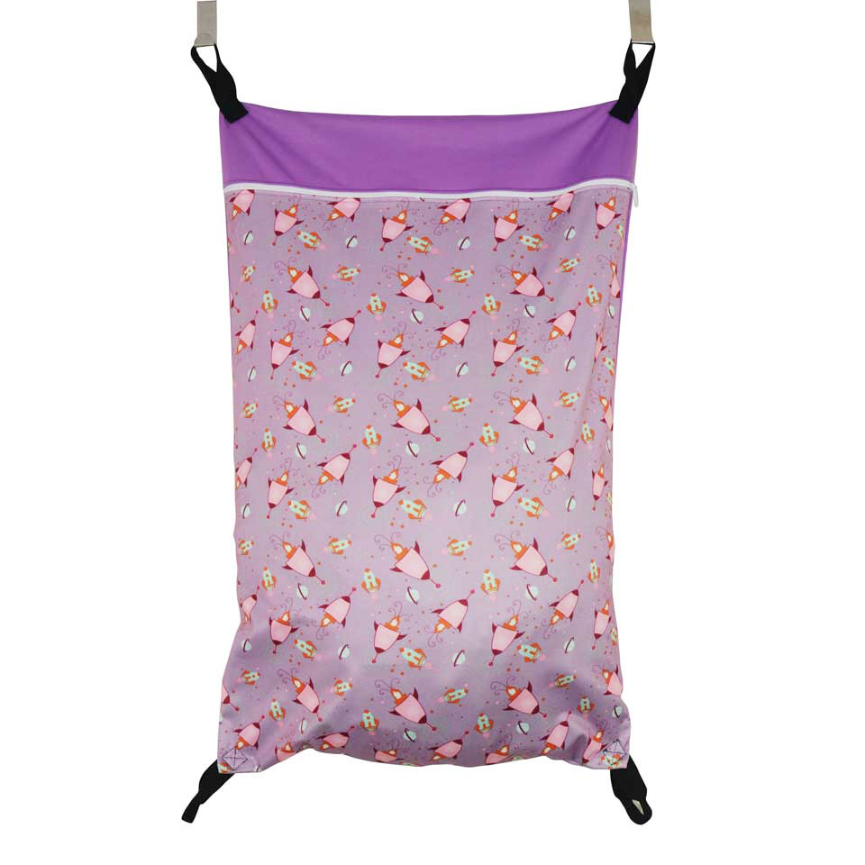 Extra Large Hanging Wet/dry Cloth Diaper Pail Bag For Reusable Diapers Or Laundry