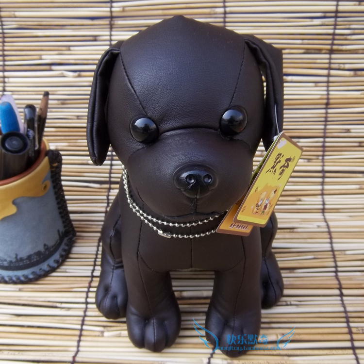 high quality goods, PU leather dog , black sitting pose dog plush toy,Christmas gift h40 mcd200 16io1 [west] quality goods