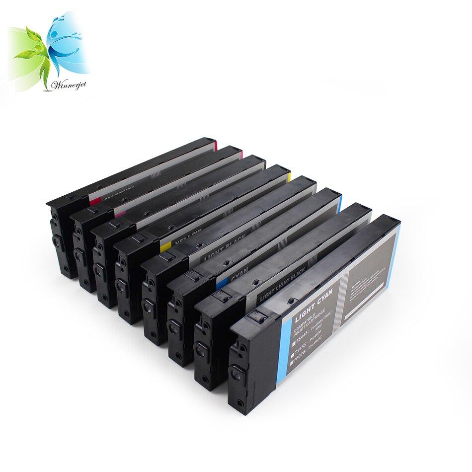 Winnerjet 2 комплекта 220 мл 8 видов цветов чернильный картридж для принтера Epson Stylus Pro 4800 4880