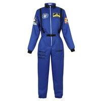 Women's Astronaut Costumes Adult Space Costume Plus Size Flight Suit Astronaut Jumpsuit Fancy Dress Up Costumes US Size S 2XL