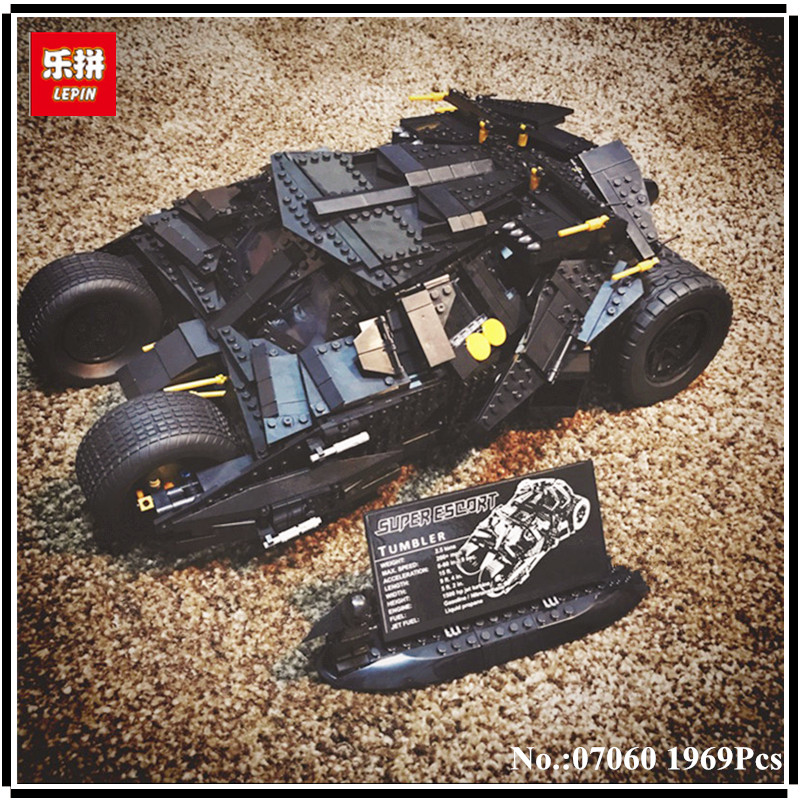IN STOCK LEPIN 07060 1969Pcs NEW Super Movie Series Hero The Batman Armored Chariot Set 76023 Educational Building Block Bricks lepin 07060 super series heroes movie the batman armored chariot set diy model batmobile building blocks bricks children toys