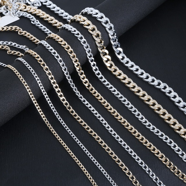 Metal Chain Antique Silver Gold Plated Jewelry Findings Aluminum Chain Connector For DIY Making Bracelet Necklace & Metal Chain Antique Silver Gold Plated Jewelry Findings Aluminum ...