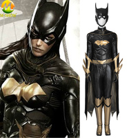 Batman: Arkham Knight Batgirl Cosplay Costume Leather Cosplay Custom Made Jumpsuit Halloween Costumes For Women