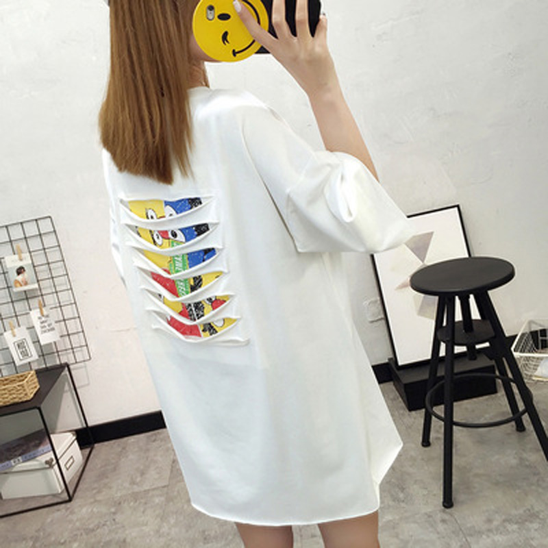 New Fashion Summer Pure Cotton Loose Comfortable Casual T-shirt Dress Postpartum Maternity Wear