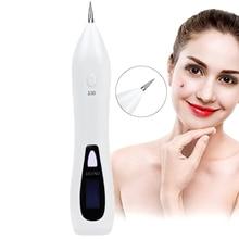 Mole Removal Laser Pen Freckles Mørk Spot Nevus Tattoo Remover Bærbar USB Opladning Beauty Skin Machine med LCD Display