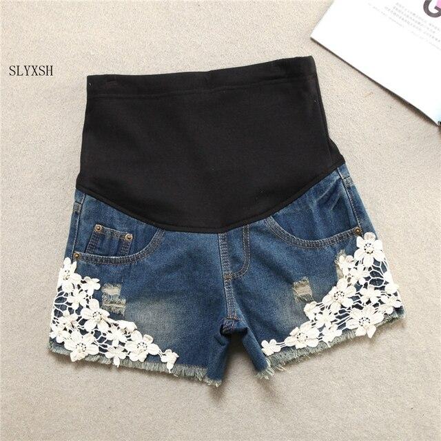 Yaz Kısa Hamile Kot Pantolon Hamile Kadınlar Için Giyim Gebelik Giysileri Şort Göbek Kot 2019 Yeni Artı Boyutu XXL