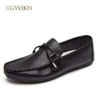 XGVOKH Men Loafers shoes Soft Driving Moccasins Shoes hollow Breathable Basic Man Flats summer Style light Slip-On Shoes