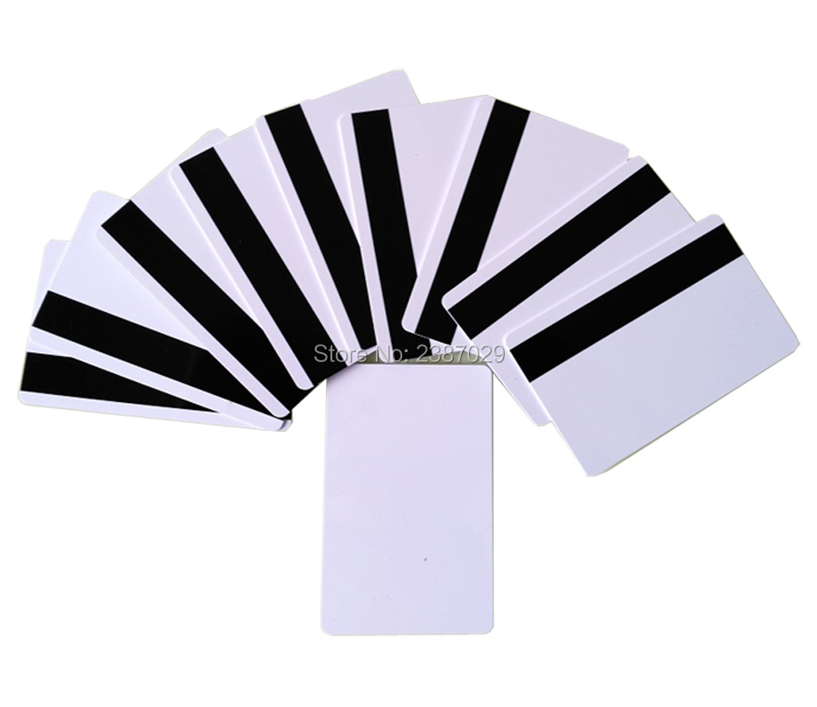 CR80 Size White PVC Blank Magnetic Card with Loco Magnetic Stripe for Hotel Door Lock System 1000pcs/lot 20pcs lot contact sle4428 chip gold card with magnetic stripe pvc blank smart card purchase card 1k memory free shipping
