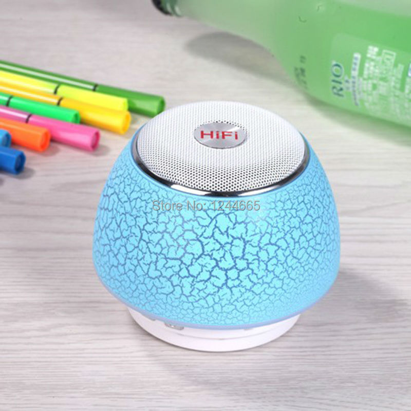 Wireless Bluethooth Speakers Computer Speaker LED lights Stereo Portable Audio Player Handsfree with Mic Support USB SD TF Card