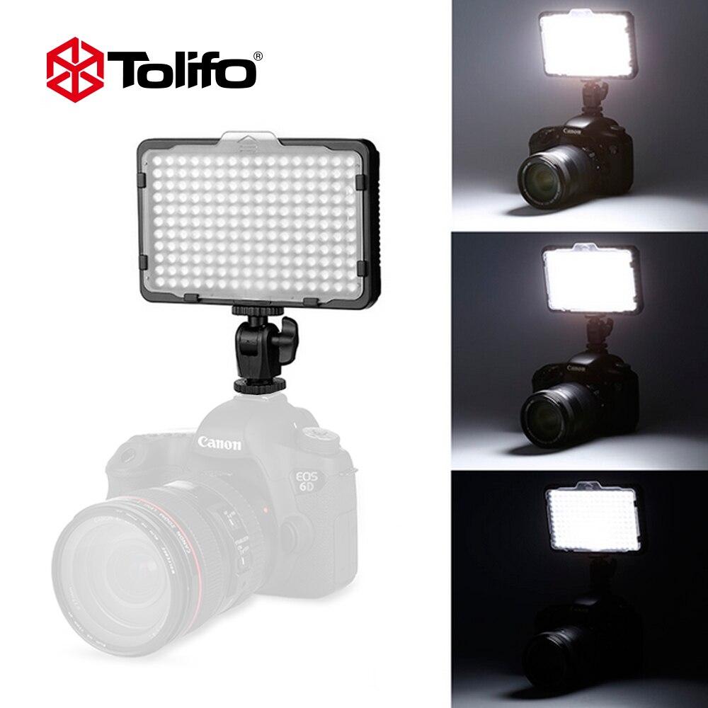 Tolifo PT-176S 176 LED Ampoules 5600 K/3200 K Ultra Lumineux LED Caméra Vidéo Lumière pour Canon Nikon et d'autres Appareils Photo REFLEX (Pas de Batterie)