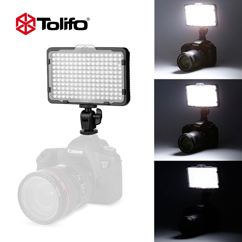 Tolifo PT-176S 176 LED Bulbs 5600K/3200K Ultra Bright Mini Led Camera Video Light for Canon Nikon Pentax and other DSLR Cameras