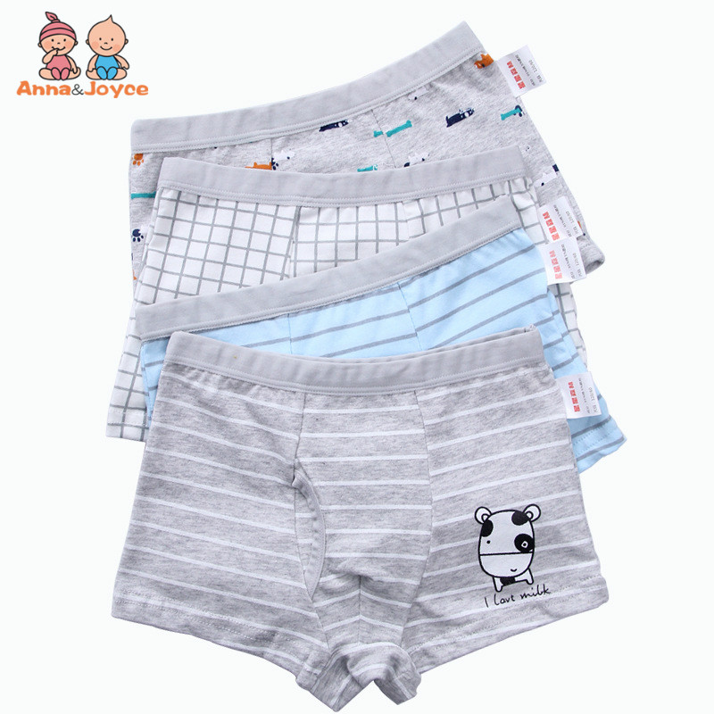 4Pcs/Lot New Boys Panties Cartoon Cotton Boxer Shorts  Boy Underwear  Underwear Children  Kids Underware