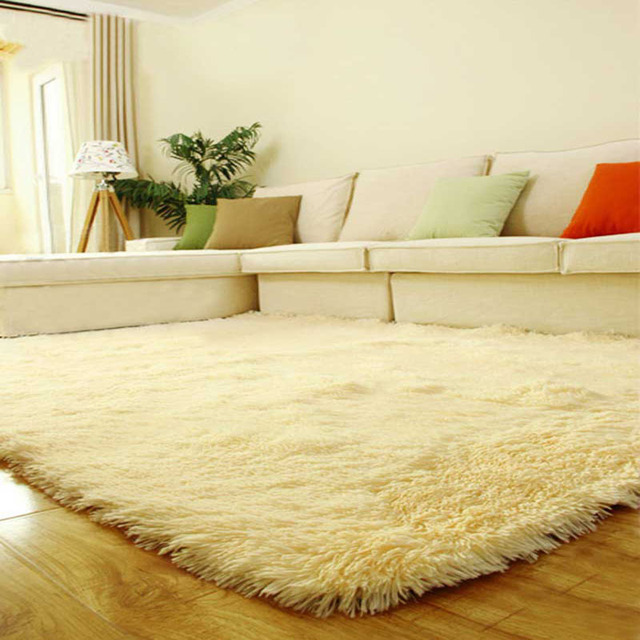 US $16.39 30% OFF 1 Piece 80*120cm Rice Yellow/Red Super Soft Table Large  Doormat Livingroom Rugs Anti Skid Shaggy Plush Carpet-in Carpet from Home &  ...