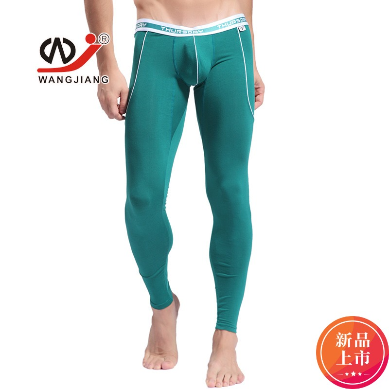 New WJ  Men's Long Johns Bamboo Fiber Breathable Thermar Underwear Comfortable Panties For Winter4 Colors(China)