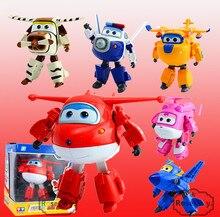 Tamaño grande 12 CM Alas Súper Deformación Juguetes Aviones robot Transformación Acción y Figuras de Juguete Para El regalo De Navidad Brinquedos