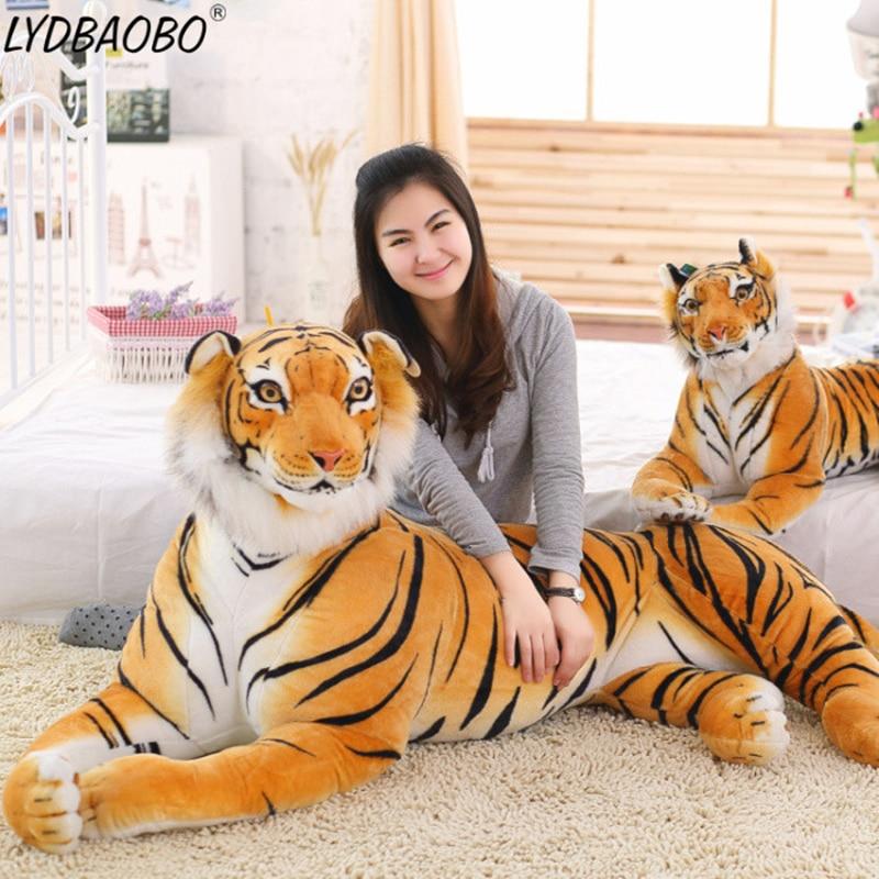 LYDBAOBO 1PC 90CM Big Size Cartoon Tiger Animal Plush Doll