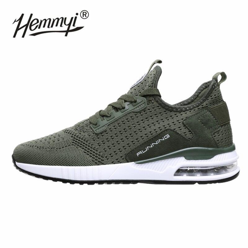 Hemmyi 2019 Couple Mesh Sneakers Men and Women Basket Femme Air Cushion Sport Shoes Men Outdoor