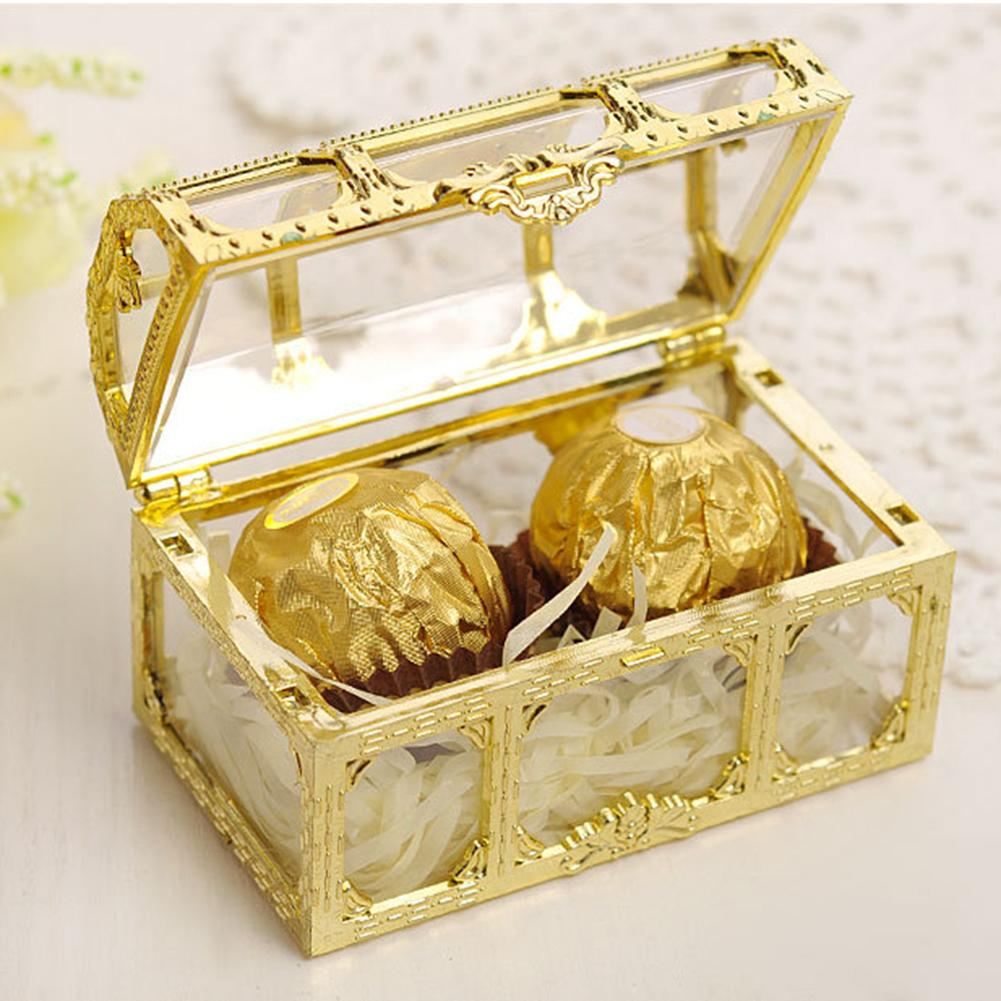 Wedding Preservation Boxes: European Style Hollow Out Plastic Candy Box Packing