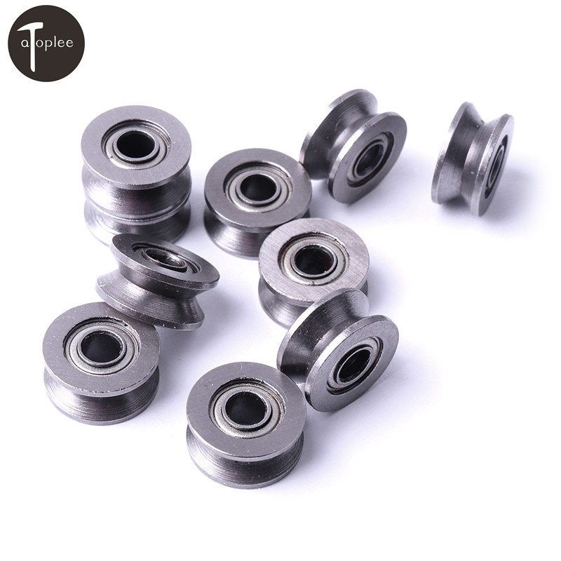 20pcs 4*13*6mm 624VV V Groove Sealed Ball Bearings Roller V Groove Guide Pulley For Low Speed Wire Track Wheels Roller d s