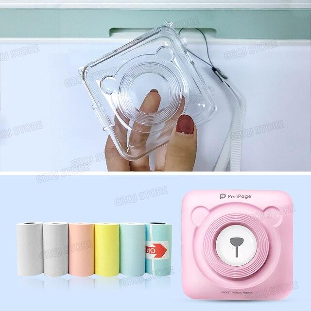 Papel de etiqueta de papel térmico blanco rosa amarillo GZM5804 impresora térmica portátil Bluetooth (solo papel o carcasa)