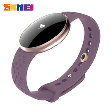 SKMEI Для женщин Мода Смарт часы для IOS Android с Фитнес мониторинг сна Водонепроницаемый удаленного Камера gps автовключение Экран B16