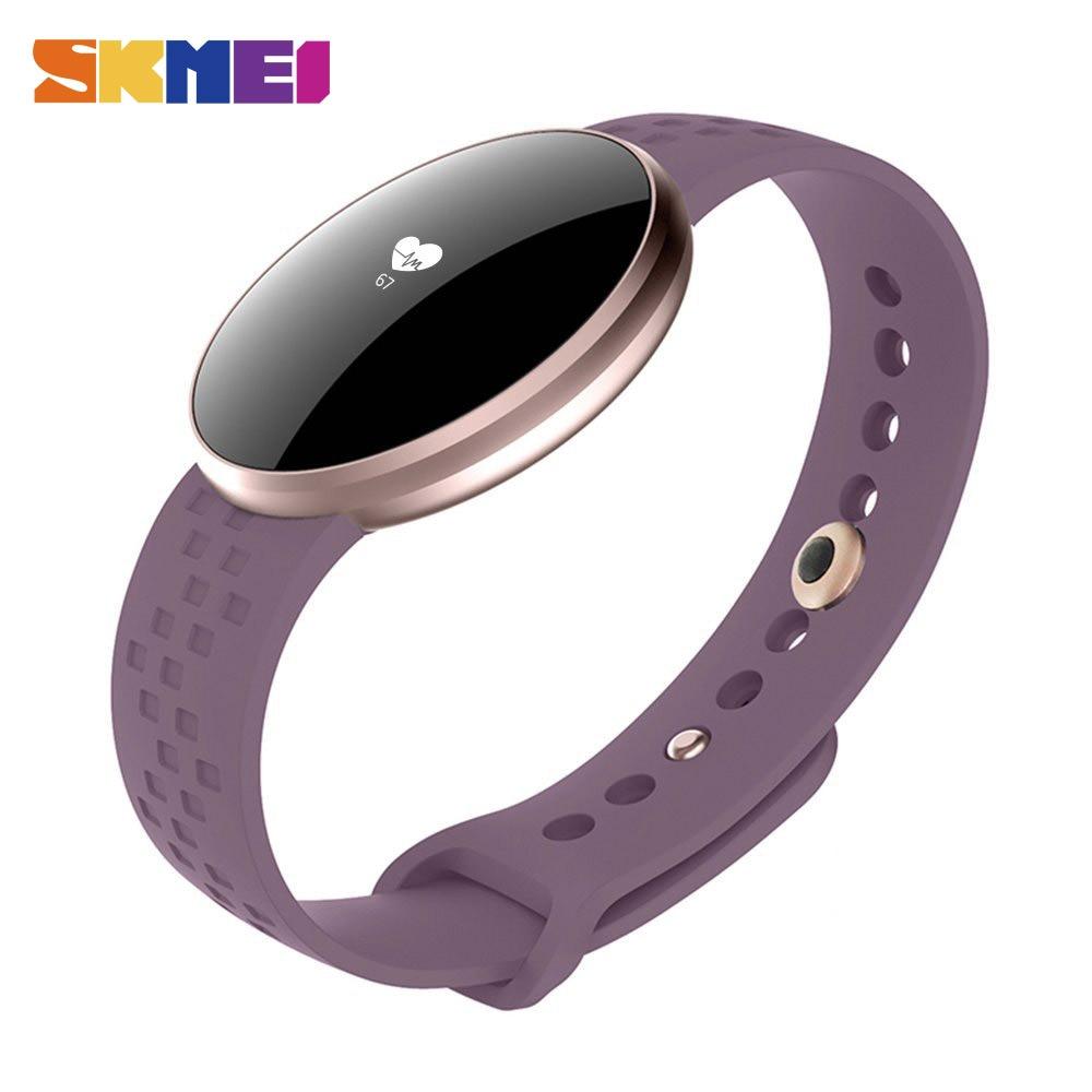 SKMEI mujeres moda reloj inteligente para IOS Android con Fitness Sleep monitoreo impermeable remoto Cámara GPS Auto Wake pantalla B16