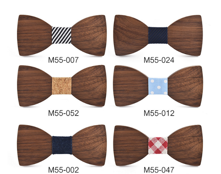 Wood Bow Tie Mens Wooden Bow Ties  Business Butterfly Cravat Party Ties For Men Wood Ties Men Gift
