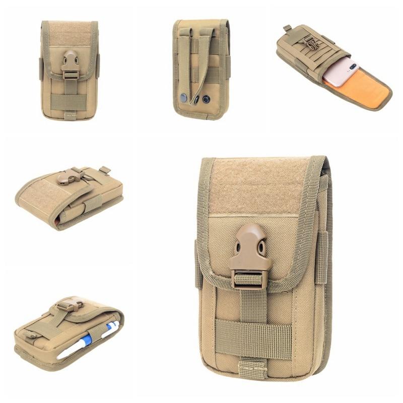 Tactical Molle Phone Holster Outdoor Belt Waist Bag Utility Vest Card Carrier Bag Mini Multi-function Hook Loop Travel Bag Pack