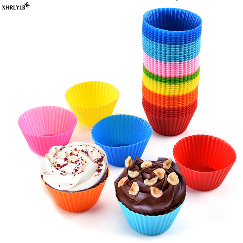 XHRLYLB10pc Silicone Muffin Cup Round Cake Cup Kitchen Baking Tools Wedding Decoration Supplies Christmas Decoration Flamingo.7z