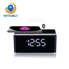 High-end Smart Wireless Bluetooth Alarm Clock Stereo Dual Speakers 3D Surround Sound Bass FM Radio Gift Card Portable Mini Clock