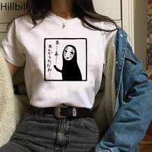 Hillbilly CMK251 No Face Man Cute Women Harajuku Shirts Casual Cotton Short Sleeve Plus Size T-shirt Summer Tees & Tops