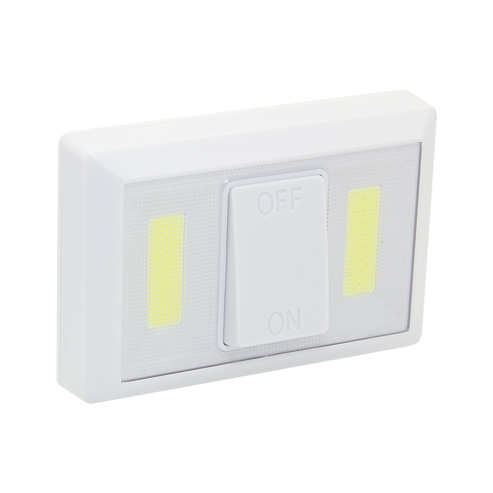 Portable COB LED Wall Night Lights With Switch Battery Powered Wireless Lamp For Bedroom  Pathway Stairway Closet Garage