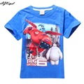 Hot Big Hero 6 Boys T Shirt Baymax T-Shirts For Kids Baby Summer Cartoon Children's T Shirt Boys Clothes Roupas Infantis Menino