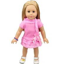 Free shipping hot 2014 new style Popular 18 American girl doll clothes dress b847