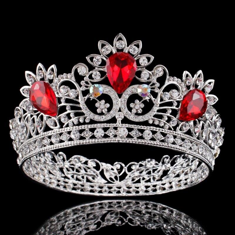 Baroque Bride Crown for Wedding Crown Crystal Flower Princess Diadem Rhinestone headband large Hair Accessories Head Jewelry цена