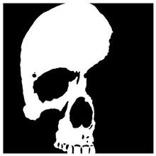 6x6in przerażające czaszki plastikowe szablony do DIY Scrapbooking dekoracyjne tłoczona kartka do cięcia arkusz rysunku tanie tanio OTCRAFT Rectangle Plastic Stencils skull