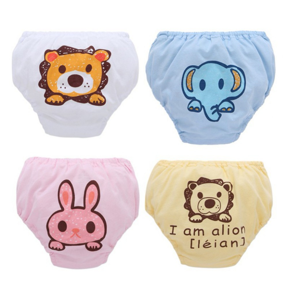 BOBORA Baby Training Pants Panties Diapers Reusable Washable Baby Cloth Diaper Cover Waterproof Cloth Nappy Cotton Diapers